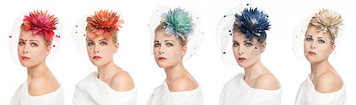 Marilyn's Feather Hats With Veils - Colors