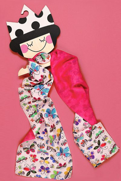 Child Scarf - Motif with Butterflies