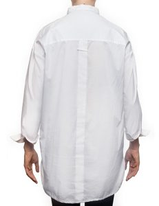 """Marilyn """"Boyfriend"""" Blouse - Loose Fit, Long With Long Sleeves - White-back"""