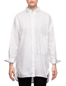 """Marilyn """"Boyfriend"""" Blouse - Loose Fit, Long With Long Sleeves - White"""