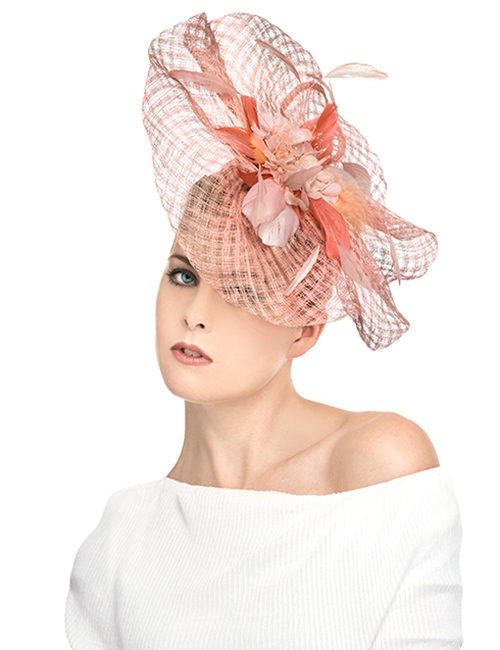 SKU21715_Fascinator_Waved-Shape_feathers-flowers_pink
