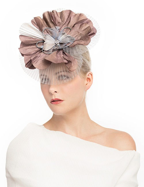 Sku-10021_Fascinator-Feathers-with-pleated-veil_taupe2