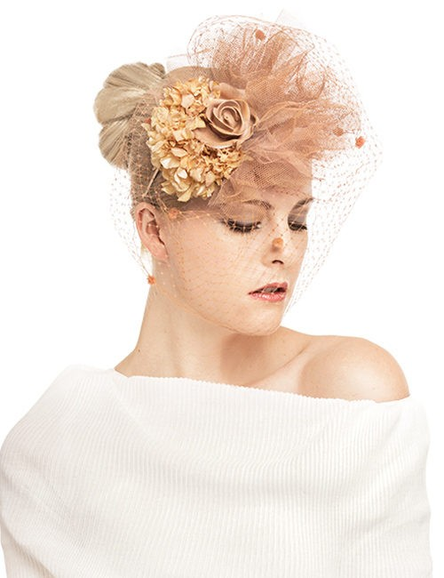 Sku-19544_Fascinator-Tulle-Flower-Cluster_with-Veil_peach-2
