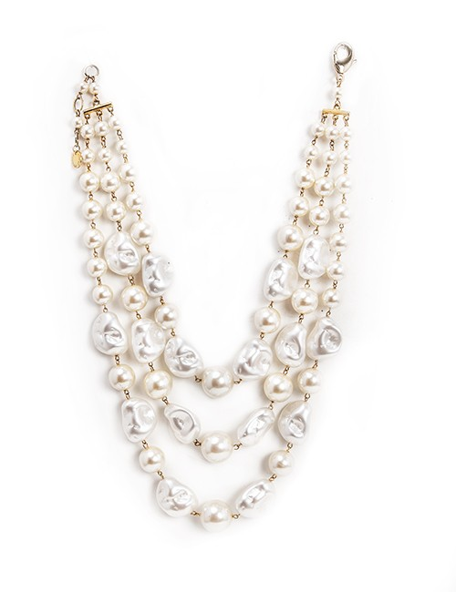 Multi Strand Cultured Pearl Necklace