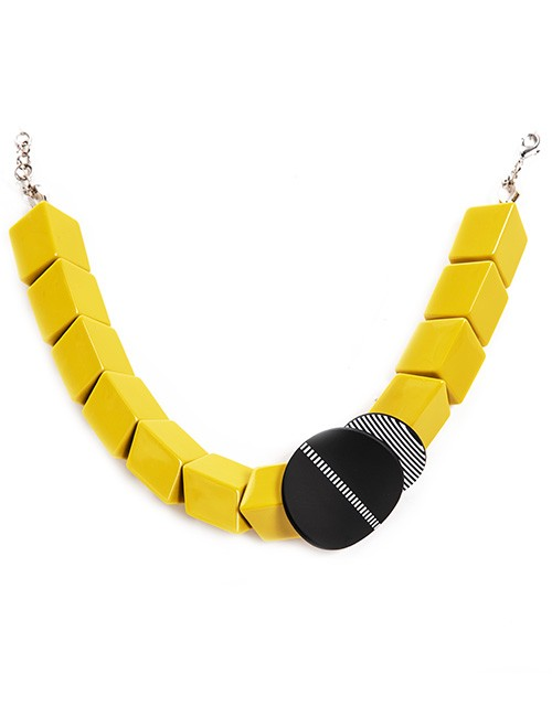 22058_-Yellow-Chunky-Squared-Neckace_1