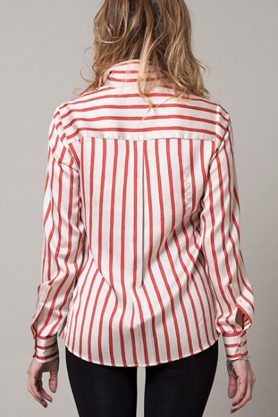 Red And White Stripe Blouse