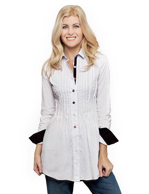 Fit-Flair-Tucked-Blouse-Marilyns