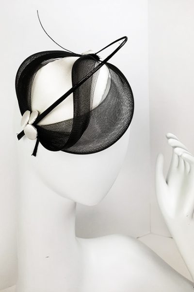 Black Small Fascinator Style Hat