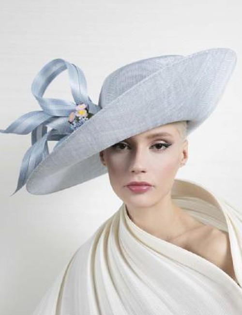 8fbb436d Powder Blue Wide Brim Couture Hat by Philip Treacy – Marilyn's