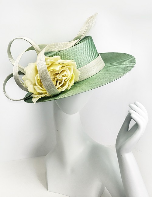 Mint Green Hat With Yellow Flower by Philip Treacy – Marilyn s 9a8a2e57515