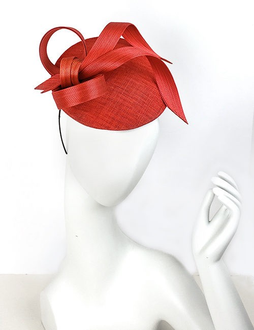 Red Fascinator Hat by Philip Treacy