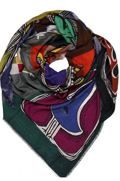 Scarf- Nature Patchwork - Multi-color 3