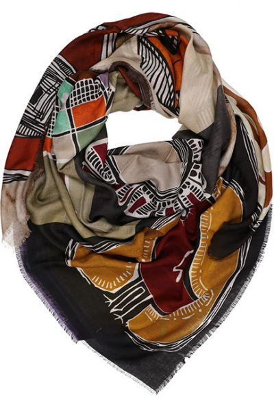 Scarf- Nature Patchwork - Multi-color 4