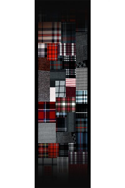 Stoll- Plaid Quilt Design - Multicolor on Black