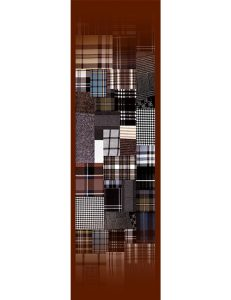 Stoll- Plaid Quilt Design - Multicolor on Brown