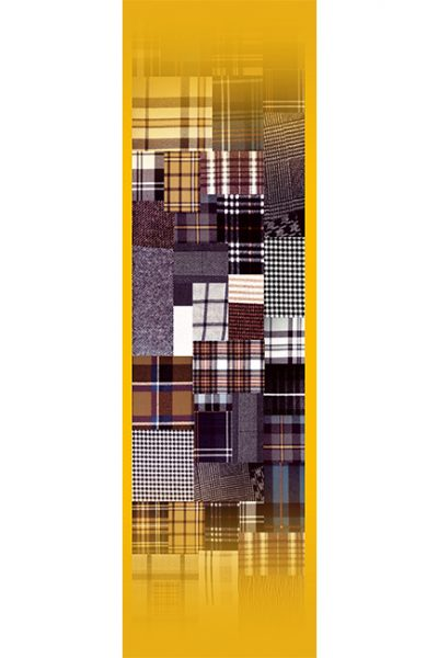 Stoll- Multicolor Plaid, Yellow Background