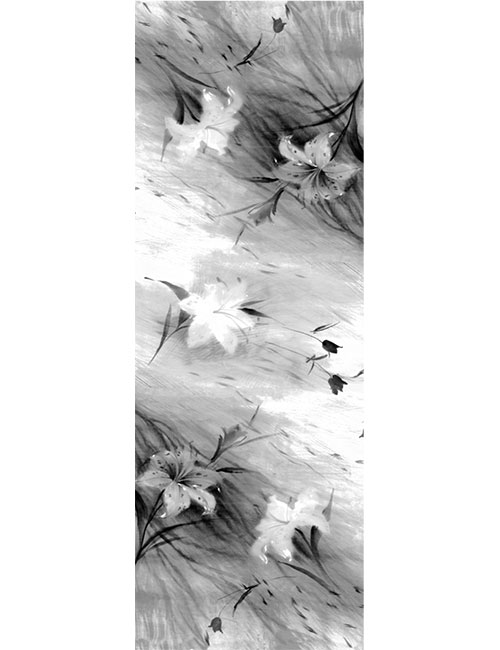Shawl- Soft Flower Sketch - Black/White