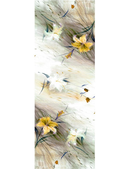 Shawl- Soft Flower Sketch - Gold
