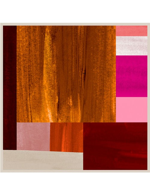 Scarf-Painted Rectangles- Multi- Rust/Pink
