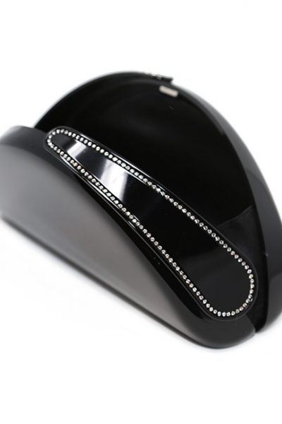 Handbag-Clutches Acrylic glass Crystal Spanish black/Crystal