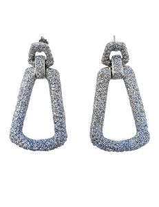 Pierced earring metal base, composed of Magnesium-AL, lightweight, oxidation-free, naturally hypoallergenic silver