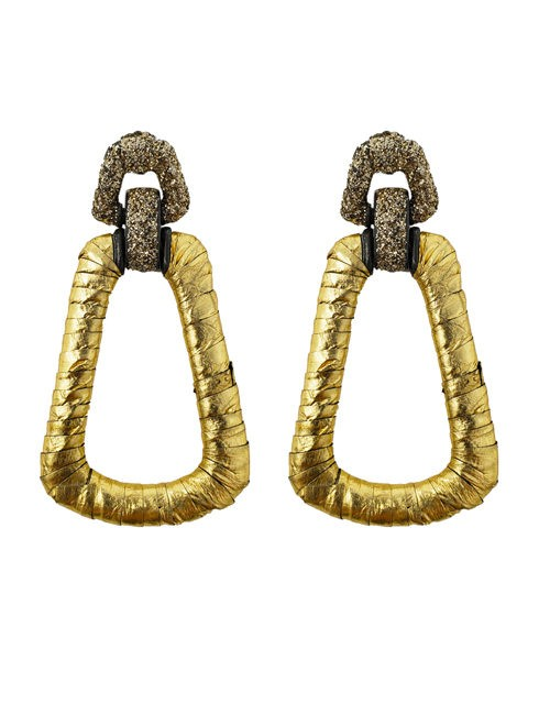 Pierced earring metal base, composed of Magnesium-AL, lightweight, oxidation-free, naturally hypoallergenic Gold python/silver