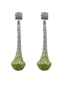 Pierced earring metal base, composed of Magnesium-AL, lightweight, oxidation-free, naturally hypoallergenic critic/silver