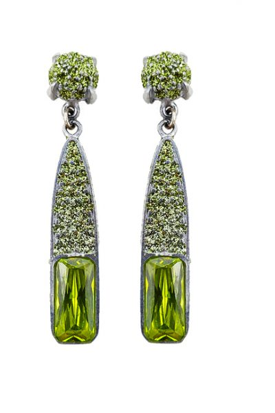 Pierced earring metal base, composed of Magnesium-AL, lightweight, oxidation-free, naturally hypoallergenic silver/lime