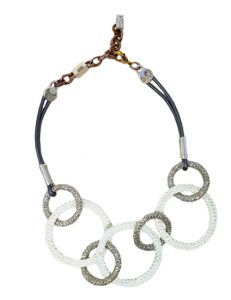 Necklace metal base, composed of Magnesium-AL, lightweight, oxidation-free, naturally hypoallergenic white/silver