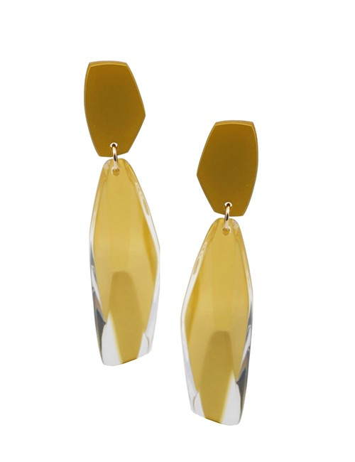 Marilyn Luxury Plexiglas Earrings Clip MX664