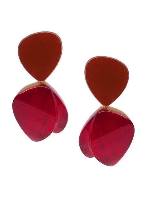 Marilyn Luxury Plexiglas Jewelry Clip Earrings