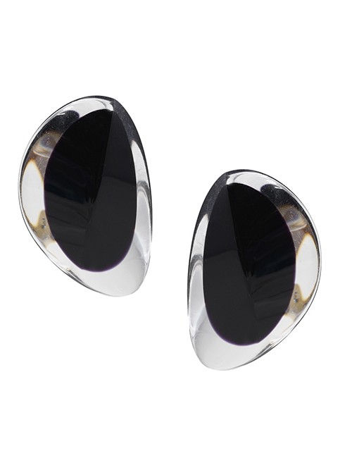 Marilyn Luxury Plexiglas Jewelry Clip Earrings 626