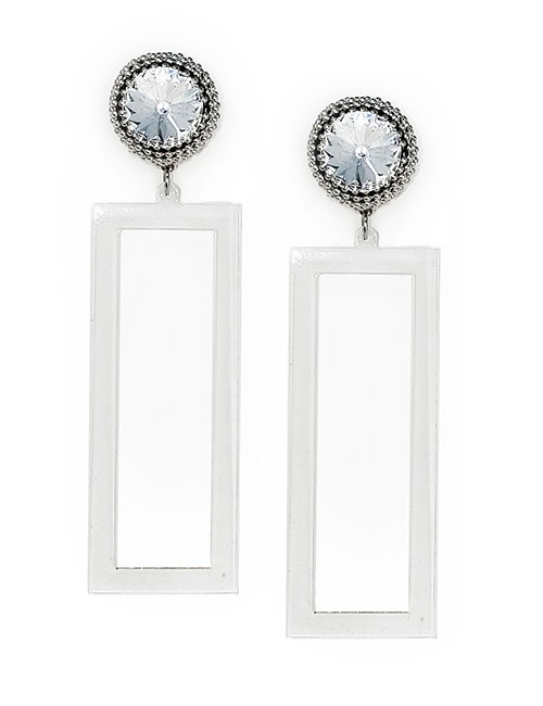 Marilyn plexiglass steal, and Swarovski crystal Clip Earrings BE008