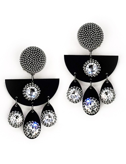 Marilyn plexiglass steal, and Swarovski crystal Clip Earrings BE002