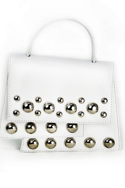 Marilyn Black or White Handbag Silver Detail EL253