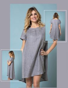 Marilyn Luxury Casual Italian Made Linen Dresses with pockets