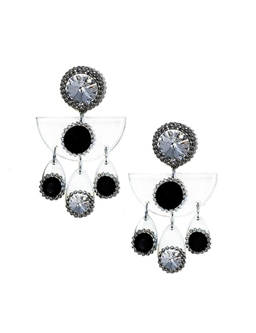 Marilyn plexiglass steal, Clip Earrings BE003