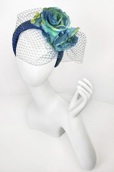 Marilyn Headband fascinator Handmade in Paris 2630