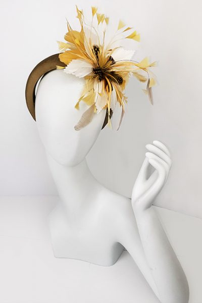 Marilyn Headband fascinator Handmade in Paris 2633
