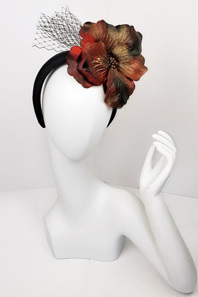 Marilyn Headband fascinator Handmade in Paris 2634