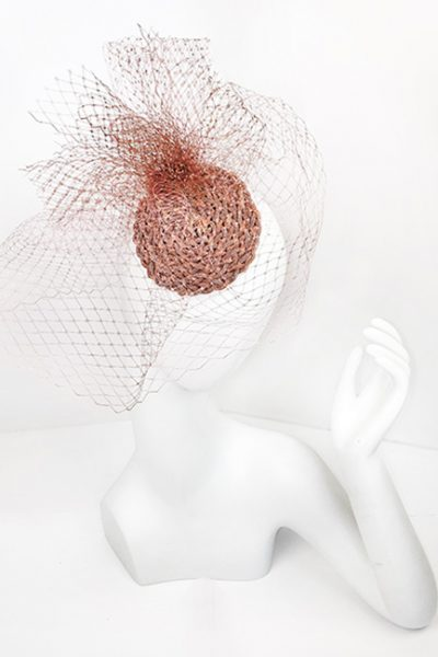 Marilyn fascinator Handmade in Paris 2655 Pink Blush