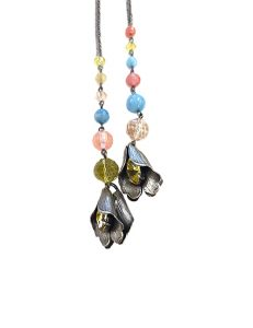 Marilyn Spanish Silver and Semi-precious Stones Jewelry Necklace Rope