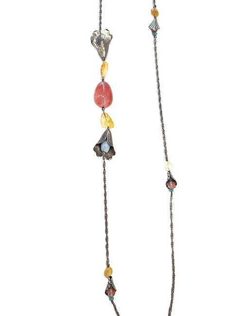 Marilyn Spanish Silver and Semi-precious Stones Jewelry Necklace
