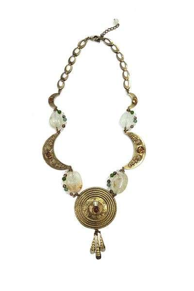 Marilyn Spanish Bronze and Semi-precious Stones Jewelry Necklace
