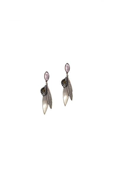 Marilyn Spanish, Handmade Silver with Glass Crystals Pierced Earring