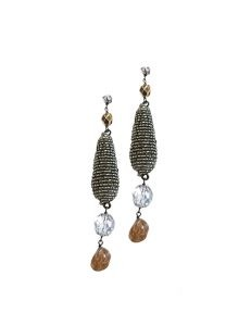 Marilyn Handmade Venetian, Crystal, and Glass Bead Pierced Earrings