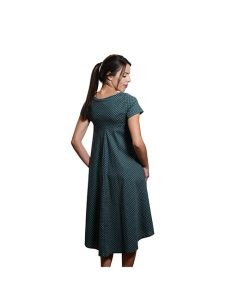 Marilyn Luxury Casual Italian Cotton Dress with round neck and pockets Guerini