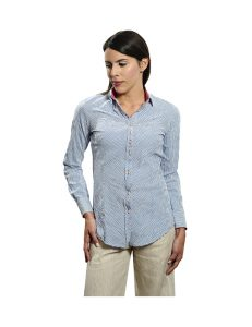 Marilyn Blouse handcrafted creations 95% Cotton, 5% Elastic M-Button