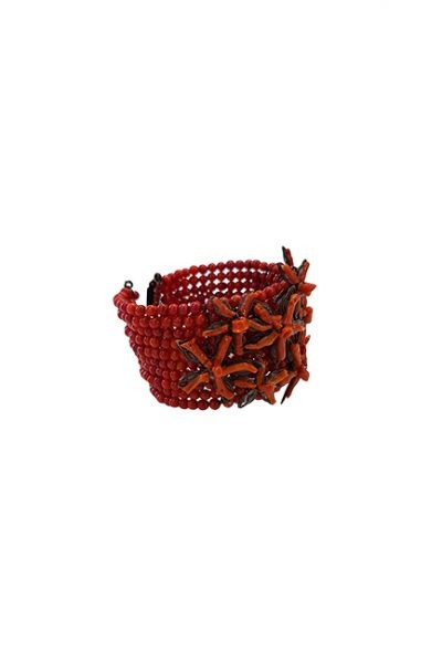 Marilyn Venetian Coral and Glass Bead Bracelet