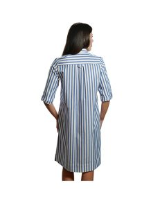 Marilyn Luxury Casual Italian Cotton Dress with Button Front and pockets Aperto
